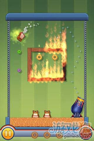 休闲游戏:仓鼠大炮 快来帮仓鼠收集更多的金币吧4