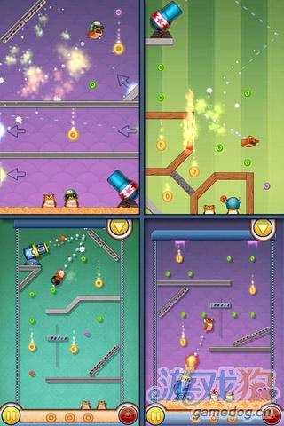 休闲游戏:仓鼠大炮 快来帮仓鼠收集更多的金币吧3