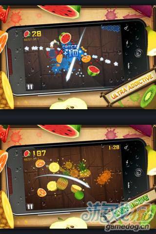 经典休闲游戏:水果忍者 准备好来切水果2