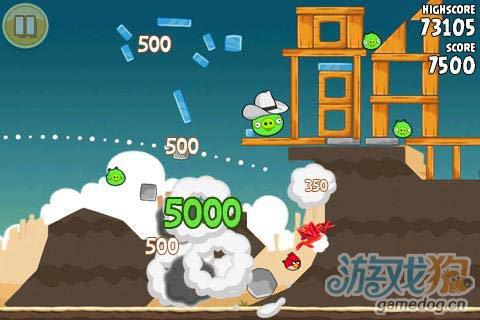 休闲游戏:愤怒的小鸟 小鸟开始复仇了3