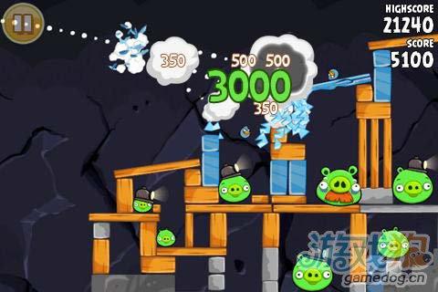 休闲游戏:愤怒的小鸟 小鸟开始复仇了4