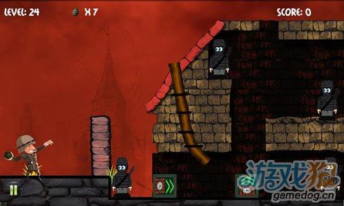简单有趣的射击游戏:炮弹大兵 消灭躲起来的敌人3