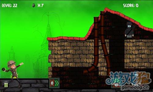 简单有趣的射击游戏:炮弹大兵 消灭躲起来的敌人2