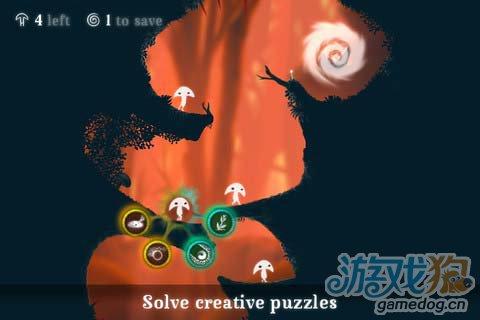 冒险闯关游戏:树叶精灵 给你风的感觉4