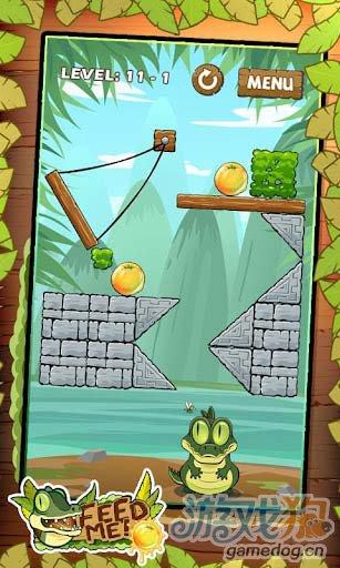 休闲益智游戏:我要吃果果 帮小鳄鱼迪欧吃到水果1