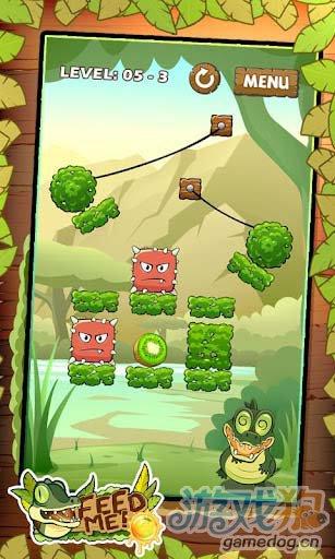 休闲益智游戏:我要吃果果 帮小鳄鱼迪欧吃到水果3
