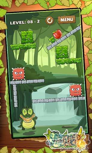 休闲益智游戏:我要吃果果 帮小鳄鱼迪欧吃到水果2