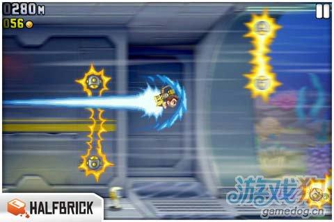 动作游戏:火箭飞人 去摧毁邪恶的实验室4