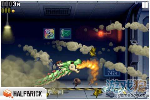 动作游戏:火箭飞人 去摧毁邪恶的实验室5