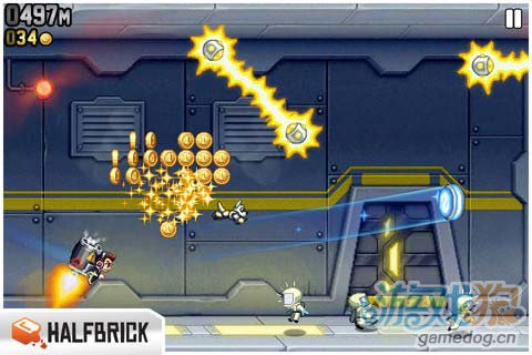 动作游戏:火箭飞人 去摧毁邪恶的实验室3