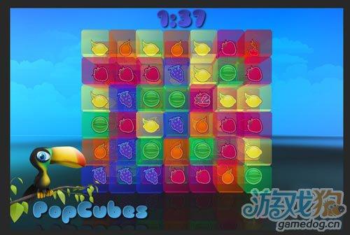 晶莹剔透消除类游戏 PopCubes 将在九月上架1