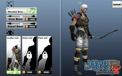 画面优秀的射击游戏:3D弓箭手 消灭来犯的敌人吧1