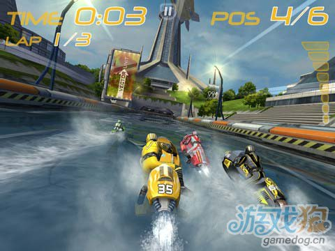 水上赛道激情竞速游戏:激流摩托艇 评测1