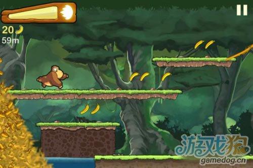 横版跑酷类小游戏Banana Kong 为了香蕉狂奔2