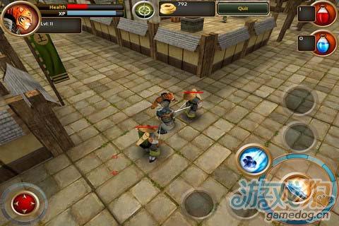 传奇老虎的英雄征途:武士剑虎 用你的剑消灭敌人2