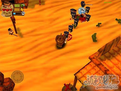 俯视角射击游戏:牛仔大战忍者和外星人 牛仔很忙2