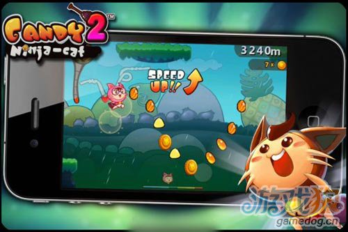 休闲跑酷游戏糖果忍者猫2 本周四与玩家见面2