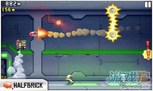 横版动作游戏:火箭飞人 逃离神秘工厂2
