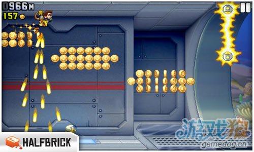 横版动作游戏:火箭飞人 逃离神秘工厂5