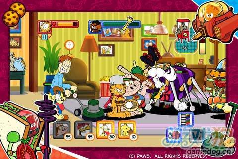 休闲游戏:加菲猫总动员食物大作战 评测2