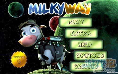 画面不错太空冒险游戏:乳牛冒险记 乳牛太空翱翔1