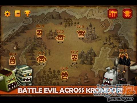 动作游戏:小小传奇狂战士 真方块无双勇士历险记2