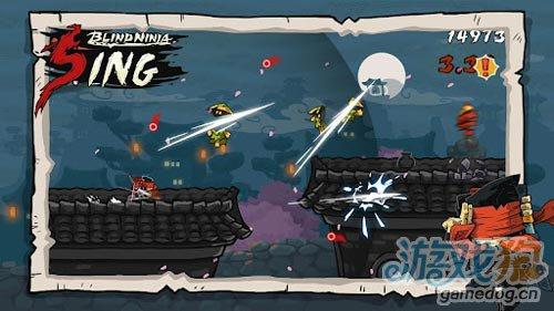横版动作游戏:瞎子忍者 打倒来袭敌人1