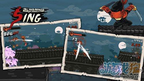 横版动作游戏:瞎子忍者 打倒来袭敌人4