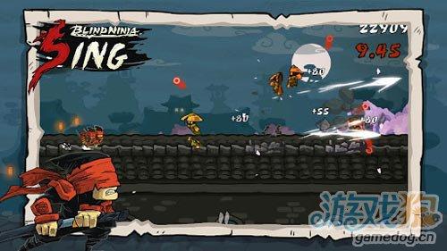横版动作游戏:瞎子忍者 打倒来袭敌人2