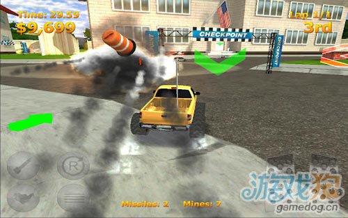 竞速游戏:迷你暴力赛车 尽情的摧毁对手2