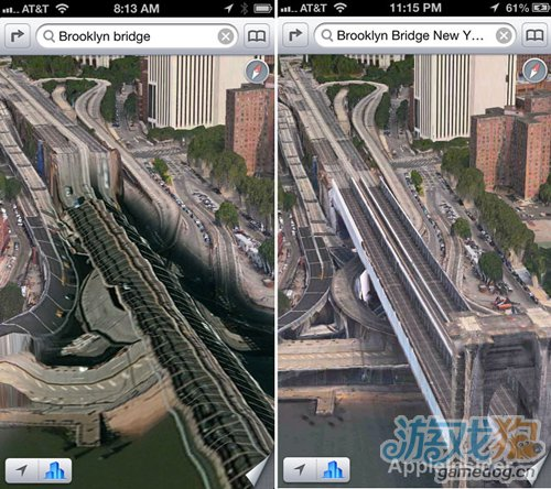 苹果修正了iOS 6地图中部分3D图形