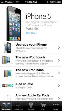 苹果Apple Store应用现已支持iPhone 5