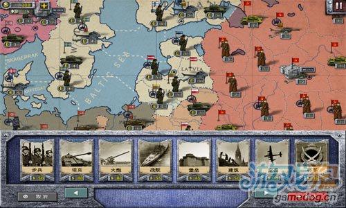 二战背景策略游戏:欧陆战争2 改变历史3