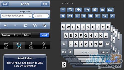 iPhone 5版iOS 6 GUI PSD源文件发布