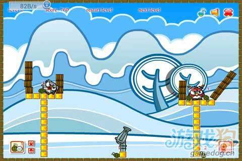 安卓物理益智炮台射击类游戏:企鹅爆炸 更新评测3