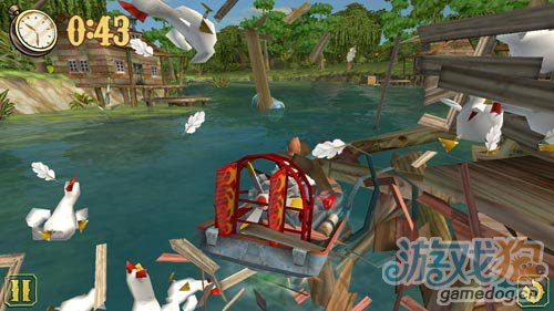 安卓赛艇类游戏:阳光快艇 在河流间穿梭1