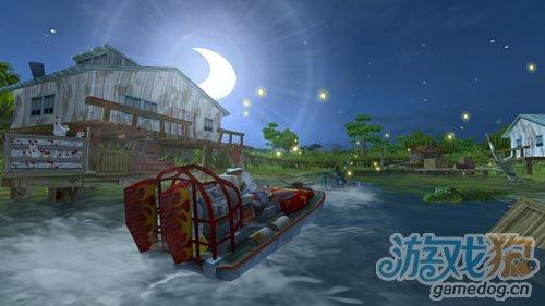 安卓赛艇类游戏:阳光快艇 在河流间穿梭3