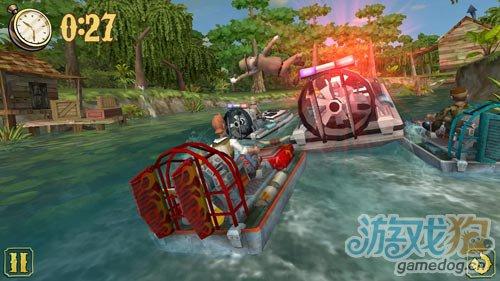安卓赛艇类游戏:阳光快艇 在河流间穿梭5