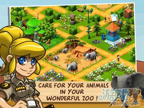 模拟经营类游戏:奇趣动物园动物救助1