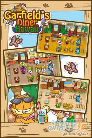 模拟经营游戏:加菲猫餐厅夏威夷篇 搞笑来袭2