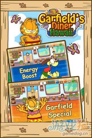 模拟经营游戏:加菲猫餐厅夏威夷篇 搞笑来袭3