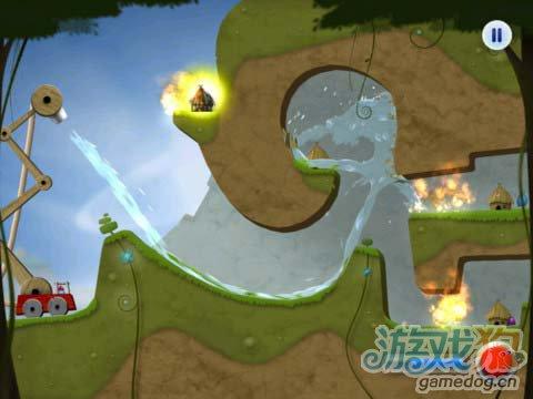 有趣的休闲游戏:蓝精灵消防员 救火英雄2