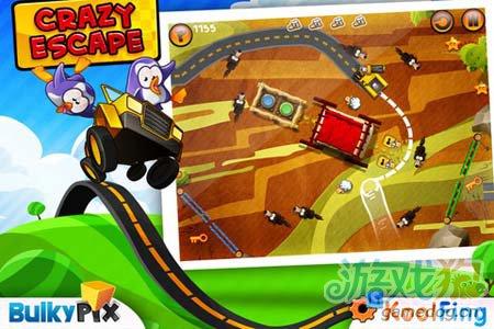 休闲游戏:疯狂大逃亡 企鹅与绵羊们的逃命大联盟1