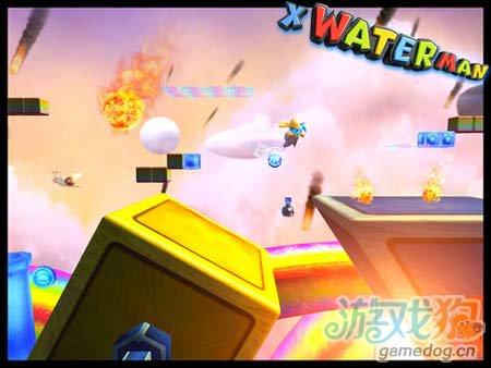 动作游戏:X水人冒险记 你伤不起的山寨版超级玛丽3