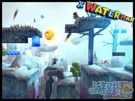动作游戏:X水人冒险记 你伤不起的山寨版超级玛丽5