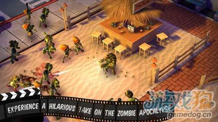动作游戏:僵尸小镇 从僵尸中杀出血路1