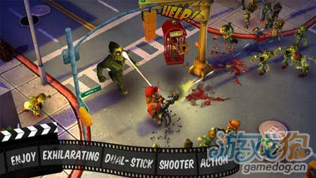 动作游戏:僵尸小镇 从僵尸中杀出血路2