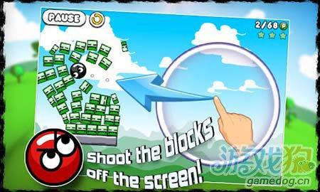 安卓休闲游戏:飞球撞砖Blosics HD FREE 彩砖演义1