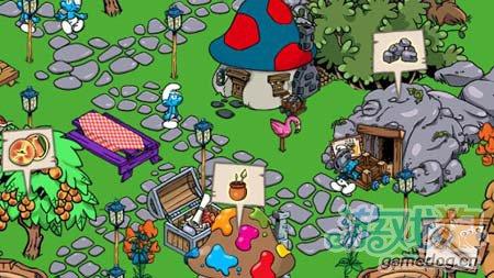 模拟经营游戏:蓝精灵村庄 建造美丽家园3