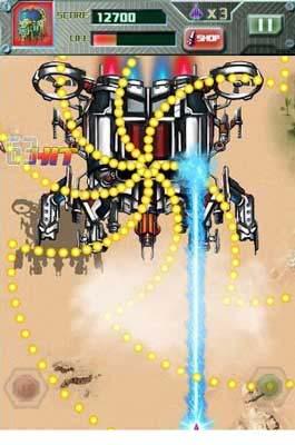 安卓弹幕射击游戏:雷电2013 翱翔在蓝天上的雄鹰4